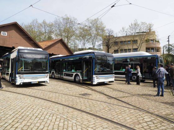 autocarros elétricos, bus, CaetanoBus, STCP