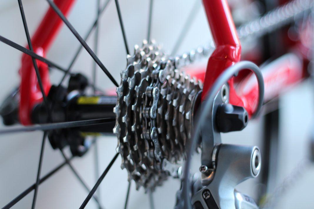 pormenor de corrente de bicicleta